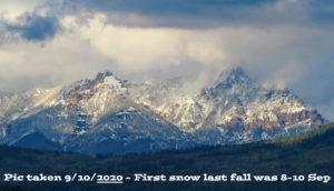 First snow last fall