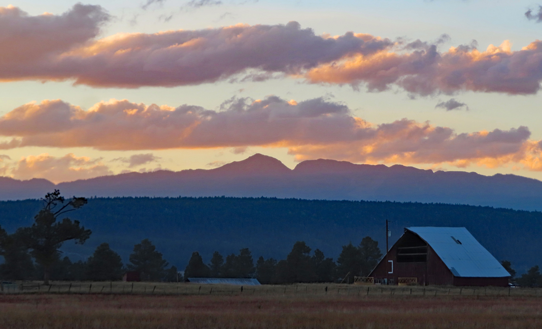 A serene sunset over Pagosa Country! Pic taken 9/19/2021